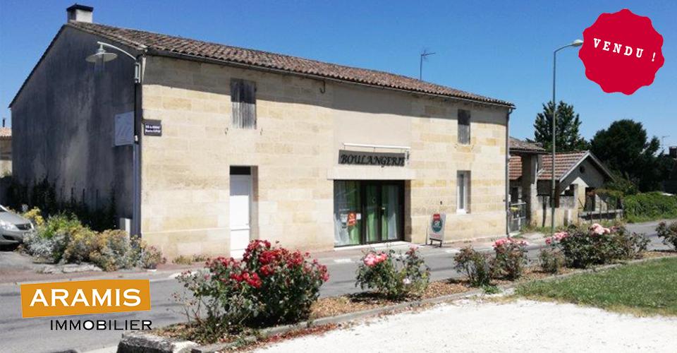 Vendu ! Boulangerie à Tauriac 33 Gironde