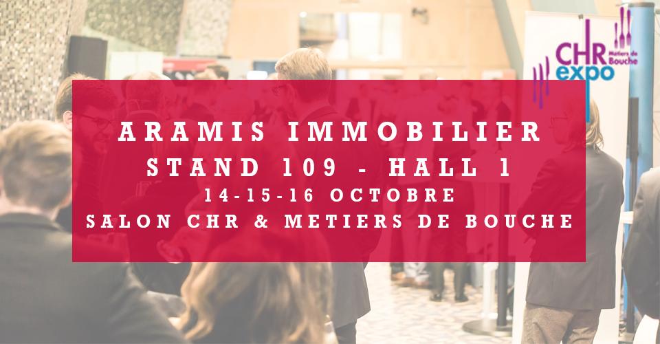 Aramis Immobilier sera présent au salon CHR Expo !